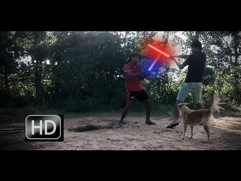 Lightsaber fight VFX created with hitfilm2 (home made) star wars fan video