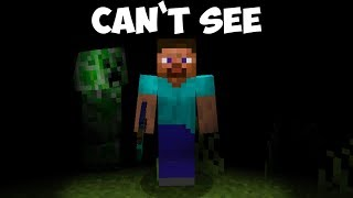 Can You Beat Minecraft With Max Blindness Effect? - No Vision Challenge