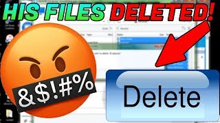 SCAMMERS FILES DELETED! HE RAGES! [SYSKEY'D]