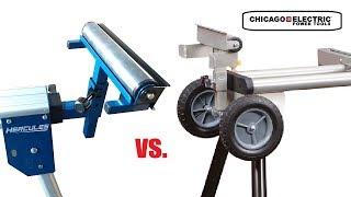 Hercules Miter Saw Stand vs Chicago Electic (Quick in store comparison)