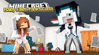 Minecraft Little Kelly : BABY ELLIE PRANKS RAMONA DAUGHTER LUNA!