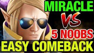 EASY COMEBACK BY MIRACLE - Invoker - Dota 2