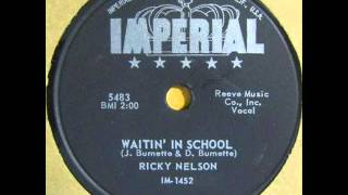 Watch Ricky Nelson Waitin In School 1958 video