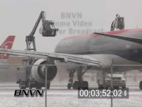 Winter storms and aviation de-icing video part 4 - from 2/24/2007
