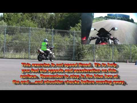 Riding tips - New Module one 1 motorcycle test 2011