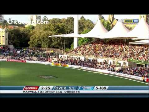 Shahid Afridi 1st Match Inning In KFC Big Bash 2011-2012