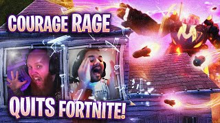 COURAGE RAGE QUITS FORTNITE! - FT. COURAGEJD (Fortnite Battle Royale)
