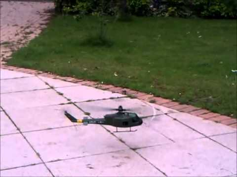 BLADE SR Bell UH-1 HUEY GUNSHIP Scale RC FLIGHT.wmv