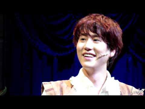 130402 4PM 삼총사 규현 커튼콜 ('The Three Musketeers' curtain-call - KYUHYUN)