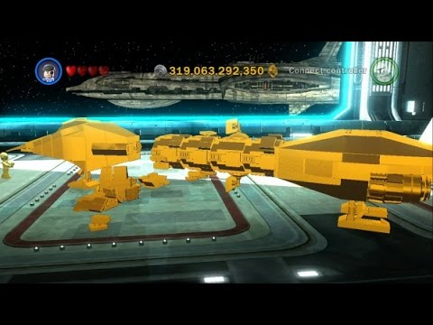 LEGO Star Wars III: The Clone Wars - 130 Gold Brick Reward (Stealth Ship) - 100% Complete