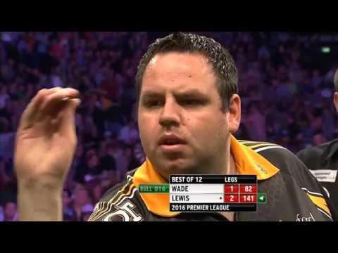 Premiere League darts week 11 Adrian Lewis vs James Wade