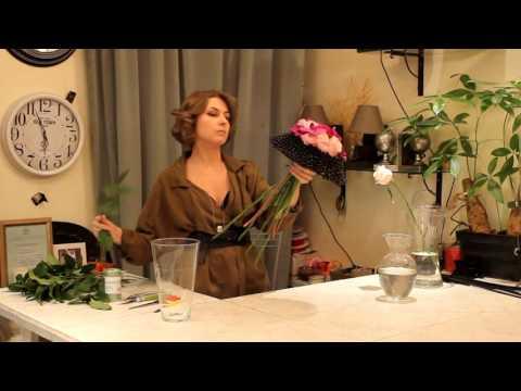 Уроки флористики Славы Роска. Мастер-класс Виктории по свадебным букетам.