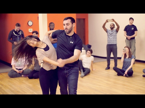 Ed Sheeran - Shape of You - Eddie Bonnell & Emi Murata - Zouk Atlanta Intermediate Dance Class