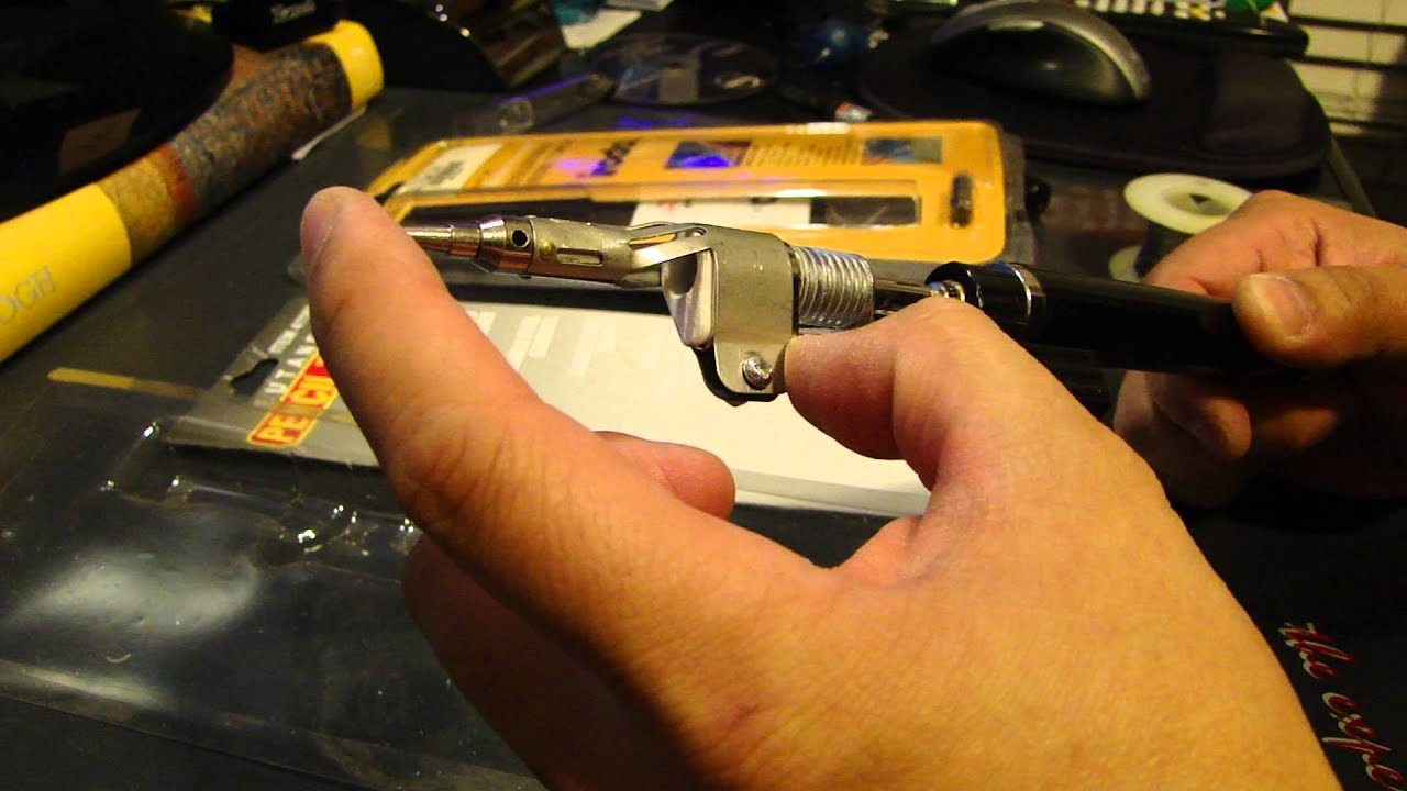 showing two cordless butane solder iron youtube. Black Bedroom Furniture Sets. Home Design Ideas