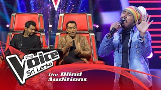 Chamila Prasad - Awasan Liyumai | Blind Auditions | The Voice Sri Lanka