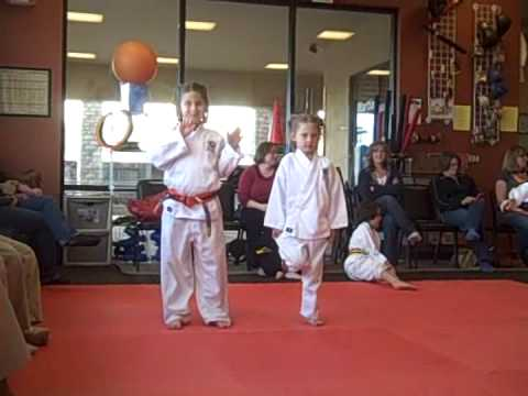 Lauren & Ava Yellow Belt Testing Video