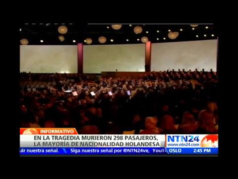 Gobierno holandés rinde homenaje a los pasajeros que fallecieron en el vuelo MH17