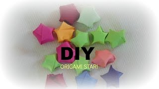 PAPER CRAFT:How To Make Origami Paper Star-easy and simple DIY in 5 min