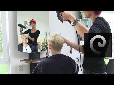 extreme bowl cut women with shaved nape | blond pixie undercut buzzcut haircut short bob
