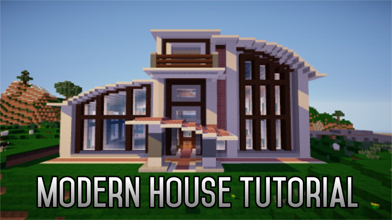 How To Build A Modern House Of Minecraft How To Build A Modern House 1 8 Part 2 Youtube