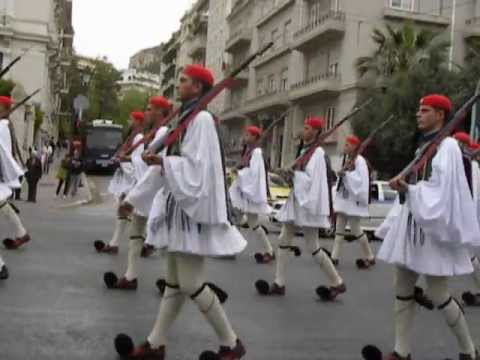 The changing of the Presidential guard in Syntagma Square, Athens, Greece