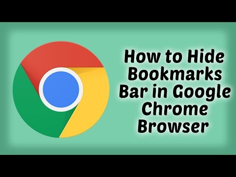 How to Hide Bookmarks Bar in Google Chrome Browser   Hindi Video   Google Chrome Tips & Tutorials