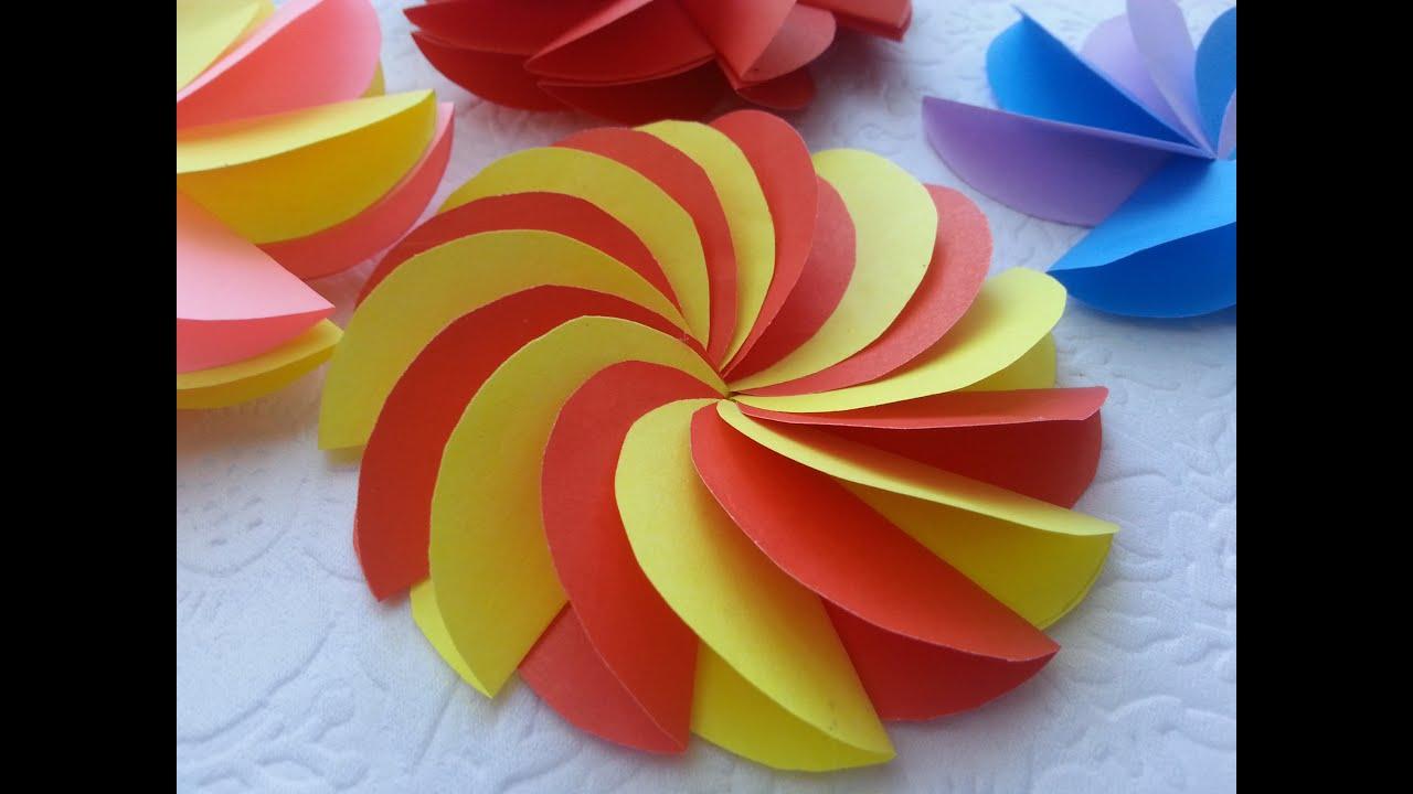 Как сделать из бумаги 3 цветка