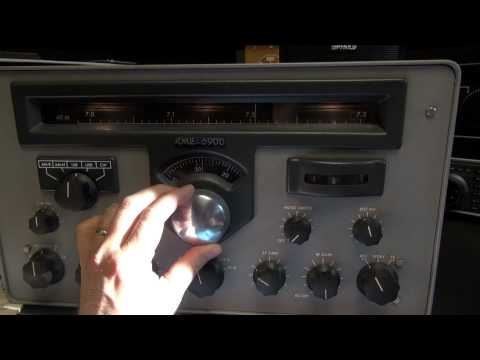 Vintage RME 6900 tube Ham radio  shortwave receiver demo
