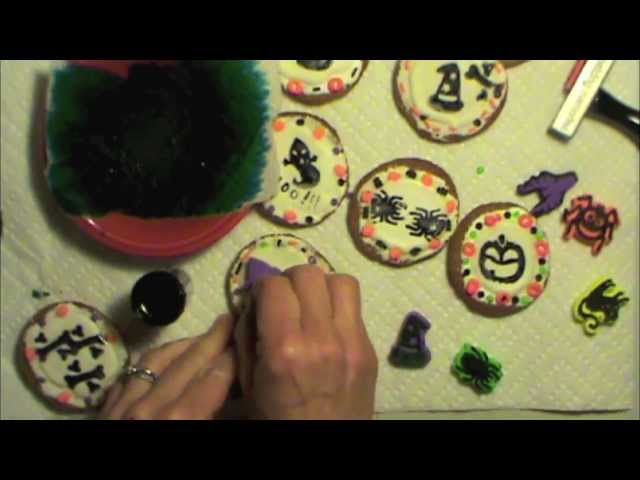 Art Stamping on Cookies