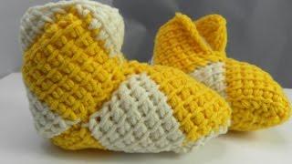 Tunesisch Häkeln Babyschühchen Aus Hatnut 133 Fine Teil 1