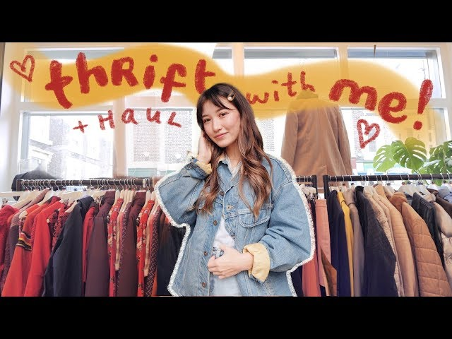 come thrifting with me in london! + try on haul thumbnail