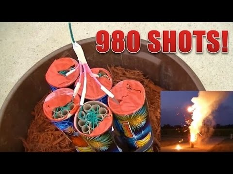980 Shot Roman Candle Firework (HD)