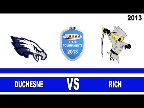 2013 1A Football Tournament Final: Duchesne @ Rich High School Utah 11/16/13