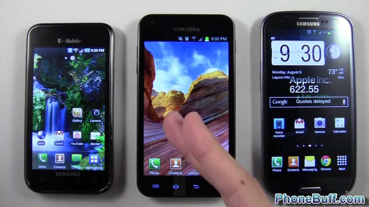 Samsung Galaxy S1 vs. S2 vs. S3, How The Galaxy Has Changed Over Time - YouTube