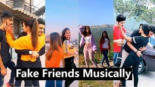 Fake Friends Challenge Musically | Awez Darbar, Nagma, Aashika, Unnati