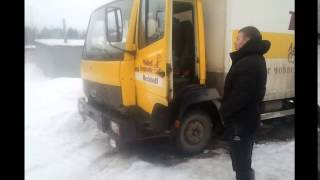 Mersedes Benz 814 Cold Start -20! Мерседес 809 запуск минус 20!