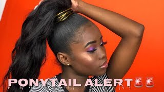 Easy Quick High Ponytail with weave!