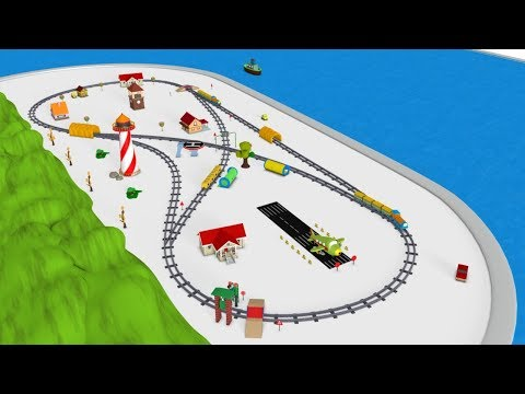 Train Cartoon for Kids - Trains for children - Choo Choo Train - Toy Factory