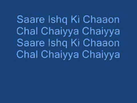 Sharuhk Khan-chaiyya Chaiyya-lyrics video