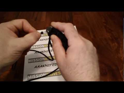 Wrapping a MISSION knife handle with paracord Mission Knives World presents the MISSION MPS