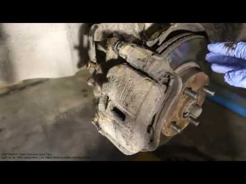 How to replace front brake pads Toyota Corolla. Years 1991 to 2000