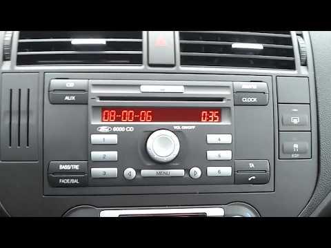 Ford C-MAX 2007 - radio Sony 6000 CD - wyświetlenie numeru seryjnego