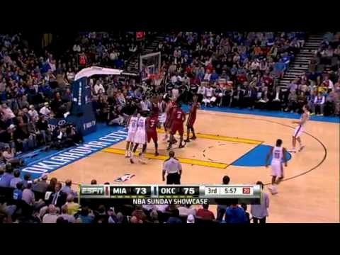 Miami Heat vs Oklahoma City Thunder (108 - 103) January 30, 2011