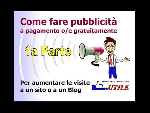 Come fare pubblicità A PAGAMENTO per aumentare le visite a un sito o a un blog  | 1a parte