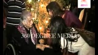 Shahshi Kapoor veteran actor with Lillette Dubey at the inauguration of Prithvi Theatre Festival