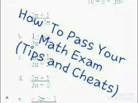 How to Pass an Exam Without Studying
