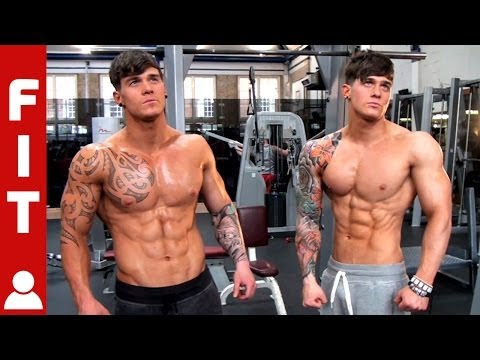 RIPPED MUSCLE TWINS GYM SHOOT - HARRISON TWINS