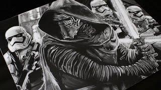 Drawing Kylo Ren - Star Wars - Realistic Drawing