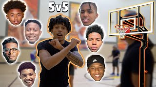 5v5 FULL COURT BASKETBALL GAME IN LA! | King Cid, SmoothGio, DDG, Deshae Frost, Flightreacts & More!