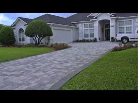 Installing brick paver driveway video.